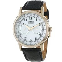 シチズン CITIZEN ECO DRIVE エコドライブ ウォッチ 腕時計 電波時計・ソーラーウォッチ マルチカレンダー レザーベルト メンズ AO9003-16A