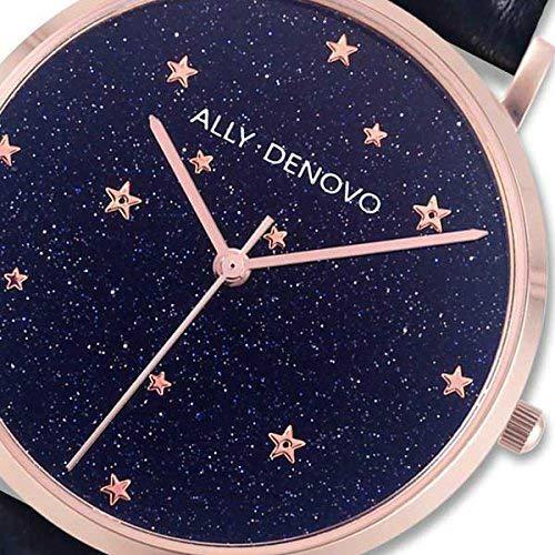 【腕時計】ALLY DENOVO Starry Night BeltSet 36mm (ローズゴールド/ブラック) (ウォッチ・メンズ・レディース・プレゼント・AF5017-4)