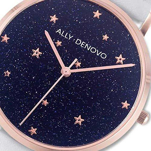 【腕時計】ALLY DENOVO Starry Night BeltSet 36mm (ローズゴールド/ホワイト) (ウォッチ・メンズ・レディース・プレゼント・AF5017-2)