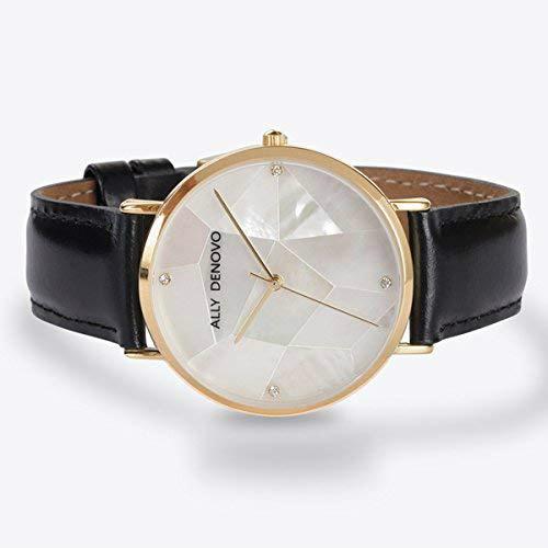 【腕時計】ALLY DENOVO 腕時計 GaiaPearl ガイアパール 36mm ゴールドホワイト/ブラック(メンズ・レディース・ウォッチ ウォッチ・プレゼント・AF5003-8)