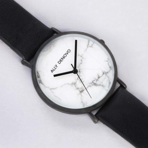 【腕時計】ALLY DENOVO 腕時計 Carrara Marble カララマーブル 36mm ブラックホワイト/ブラック(メンズ・レディース・ウォッチ・プレゼント・AF5005-2)