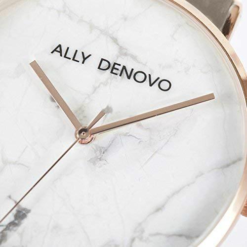 【腕時計】ALLY DENOVO 腕時計 Carrara Marble カララマーブル 36mm ローズゴールドホワイト/グレー(メンズ・レディース・ウォッチ・プレゼント・AF5005-7)