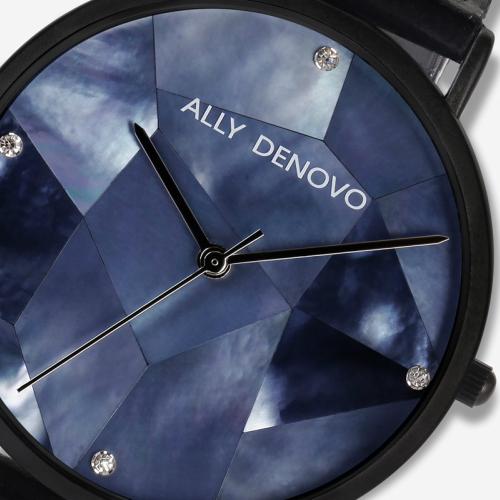 【腕時計】ALLY DENOVO 腕時計 GaiaPearl ガイアパール 36mm フルブラック(メンズ・レディース・ウォッチ・プレゼント・AF5003-5)