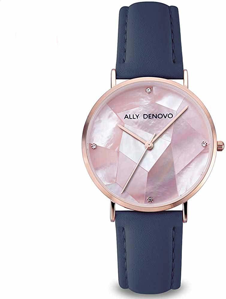 【腕時計】ALLY DENOVO 腕時計 GaiaPearl ガイアパール 36mm ローズゴールド/ピンク(メンズ・レディース・ウォッチ・プレゼント・AF5003-9)