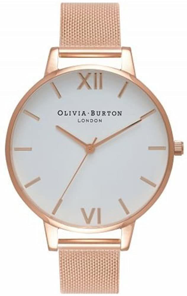 OLIVIA BURTON オリビアバートン BIG DIAL 腕時計 メッシュブレス ローズゴールド ホワイト レディース OB15BD79