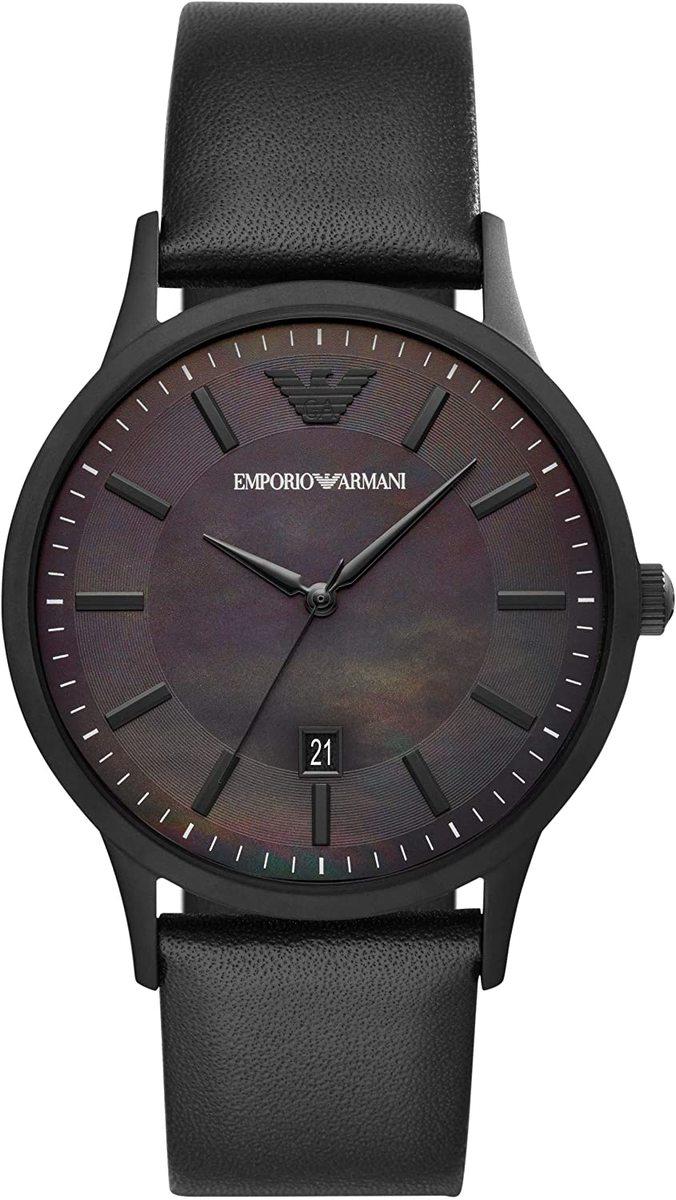 エンポリオアルマーニ 腕時計 メンズ ブラック AR11276 Emporio Armani RENATO 時計 ウオッチ 並行輸入品