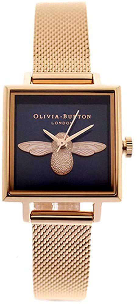 オリビアバートン 腕時計 レディース ダークネイビー ローズゴールド OB16AM96 Olivia Burton 3D 時計 ウオッチ 並行輸入品