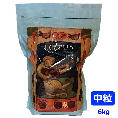 ロータス アダルトドッグ チキンレシピ 中粒 6kg 【LOTUS】:まるごと犬のくらし CAP!支店