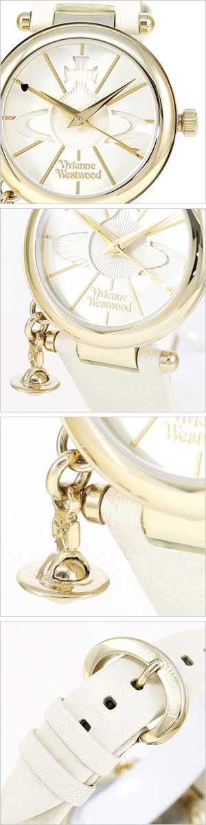 ヴィヴィアンウエストウッド腕時計 [VivienneWestwood時計](Vivienne Westwood 腕時計 ヴィヴィアン ウエストウッド タイムマシーン 時計 ヴィヴィアン腕時計 ) オーブレディース ホワイト VV006WHWH[ギフト プレゼント ご褒美][おしゃれ 防水 ]