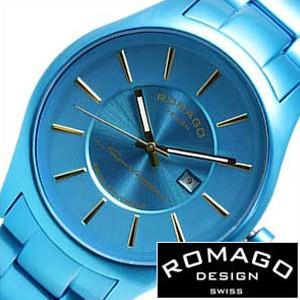 ロマゴデザイン腕時計 [ROMAGODESIGN時計](ROMAGO DESIGN 腕時計 ロマゴ デザイン 時計) スーパーレジェーラ (Super leggera) メンズ時計 ブルー RM029-0290AL-BU[ギフト プレゼント ご褒美][ おしゃれ ブランド ]