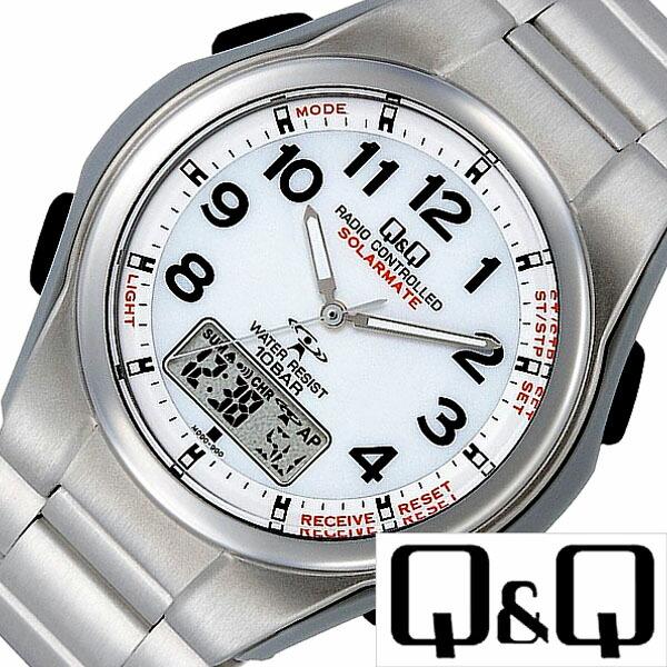 シチズン腕時計 [CITIZEN時計](CITIZEN 腕時計 シチズン 時計) ソーラーメイト (Q&Q SOLARMATE) メンズ腕時計 ホワイト [ソーラー 電波 電波ソーラー ウォッチ 高機能 ギフト プレゼント ご褒美][ おしゃれ ブランド ] 誕生日 冬ギフト