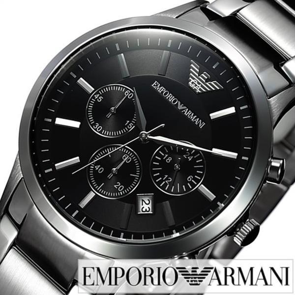 エンポリオアルマーニ腕時計 EMPORIOARMANI時計 EMPORIO ARMANI 腕時計 エンポリオ アルマーニ 時計 メンズ ブラック AR2434 [アナログ ブランド シルバー アルマーニ 時計 ギフト プレゼント ご褒美][おしゃれ 腕時計]