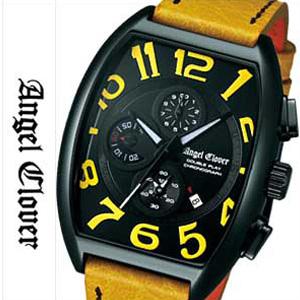 エンジェルクローバー腕時計 AngelClover時計 Angel Clover 腕時計 エンジェル クローバー 時計 ダブル プレイ Double Play メンズ ブラック DP38BYE-YE [クロノグラフ イエロー][ギフト プレゼント ご褒美][おしゃれ 腕時計]