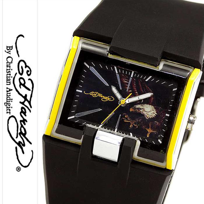 エドハーディー腕時計 EdHardy時計 Ed Hardy 腕時計 エド ハーディー 時計 メンズ ブラック ホワイト [ブランド 派手 セレブ タトゥー ハリウッド ギフト プレゼント ご褒美][おしゃれ 腕時計] 誕生日 冬ギフト