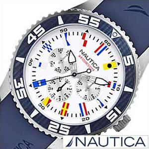 ノーティカ腕時計 NAUTICA時計 NAUTICA 腕時計 ノーティカ 時計 フラッグ スポーツ アクティブ NST07 SPORT ACTIVE メンズ ホワイト A12627G [アナログ ネイビー ギフト プレゼント ご褒美]
