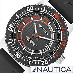 ノーティカ腕時計 NAUTICA時計 NAUTICA 腕時計 ノーティカ 時計 デイト スポーツ アクティブ NST16 SPORT ACTIVE メンズ ブラック オレンジ A12637G [アナログ ギフト プレゼント ご褒美][ おしゃれ ブランド ]