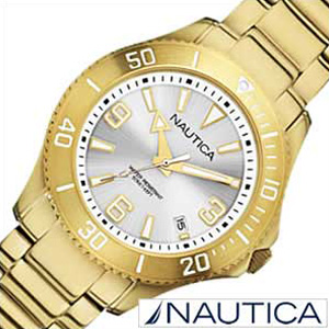 ノーティカ腕時計 NAUTICA時計 NAUTICA 腕時計 ノーティカ 時計 デイトM スポーツ アクティブ NAC102 SPORT ACTIVE レディース シルバー A15639M [アナログ ゴールド ][ギフト プレゼント ご褒美][おしゃれ 腕時計]