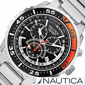ノーティカ腕時計 NAUTICA時計 NAUTICA 腕時計 ノーティカ 時計 クロノ スポーツ アクティブ NST700 SPORT ACTIVE メンズ ブラック ホワイト A16656G [アナログ シルバー ギフト プレゼント ご褒美 おしゃれ ブランド ] 誕生日
