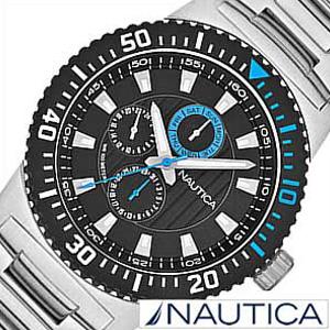 [当日出荷] ノーティカ腕時計 NAUTICA時計 NAUTICA 腕時計 ノーティカ 時計 マルチ スポーツ アクティブ NST16 SPORT ACTIVE メンズ ブラック ブルー A18679G [アナログ シルバー おしゃれ ブランド プレゼント ギフト ] 誕生日