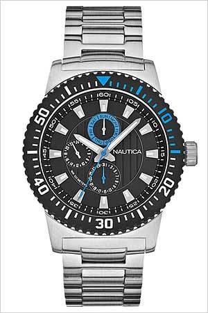 ノーティカ腕時計 NAUTICA時計 NAUTICA 腕時計 ノーティカ 時計 マルチ スポーツ アクティブ NST16 SPORT ACTIVE メンズ ブラック ブルー A18679G [アナログ シルバー おしゃれ ブランド プレゼント ギフト ]