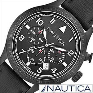 ノーティカ腕時計 NAUTICA時計 NAUTICA 腕時計 ノーティカ 時計 クロノ クラシック スポーティ カジュアル BFD105 CLASSIC SPORTY CASUAL メンズ ブラック A18685G [アナログ ギフト プレゼント おしゃれ ブランド ] 誕生日