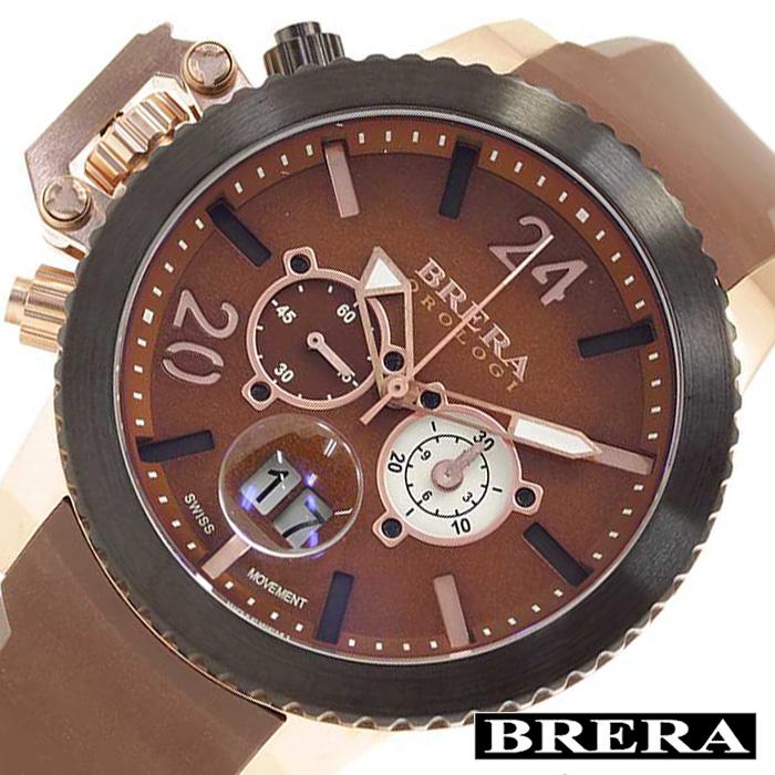 [あす楽]ブレラオロロジ腕時計 BRERAOROLOGI時計 BRERA OROLOGI 腕時計 ブレラ オロロジ ミリターレ 時計 メンズ ブラウン ホワイト BRML2C4804 [ダイバーズ ブラウン オロロージ 茶 ギフト プレゼント おしゃれ ブランド ] 誕生日