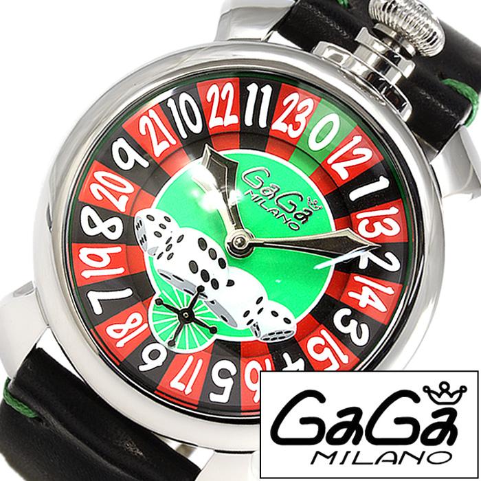 [当日出荷] ガガミラノ腕時計 GaGaMILANO時計 GaGa MILANO 腕時計 ガガ ミラノ 時計 マヌアーレ 48mm ラスベガス MANUALE 48MM LASVEGAS グリーン レッド ブラック GG-5010LAS [ ルーレット ダイス ギフト プレゼント ] 誕生日