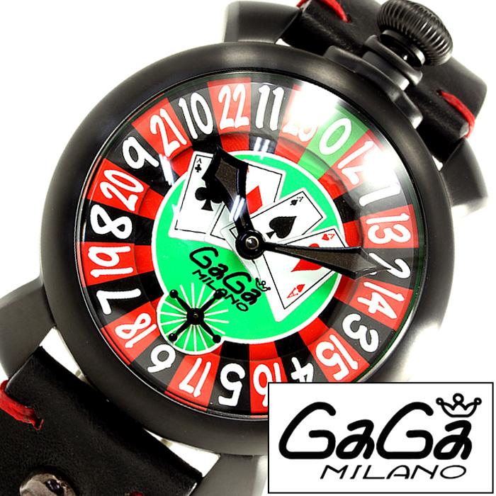 [あす楽]ガガミラノ腕時計 GaGaMILANO時計 GaGa MILANO 腕時計 ガガ ミラノ 時計 マヌアーレ 48mm ラスベガス MANUALE 48MM LASVEGAS グリーン レッド ブラック GG-5012LAS [ ルーレット トランプ ギフト プレゼント ] 誕生日 冬ギフト