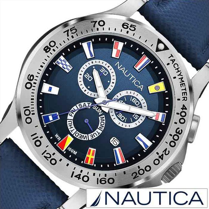 ノーティカ腕時計 NAUTICA時計 NAUTICA 腕時計 ノーティカ 時計 フラッグ NST600 CHRONO FLAG メンズ ブラック×ネイビー A19597G [ 正規品 人気 スポーティー ブランド ギフト プレゼント ご褒美]