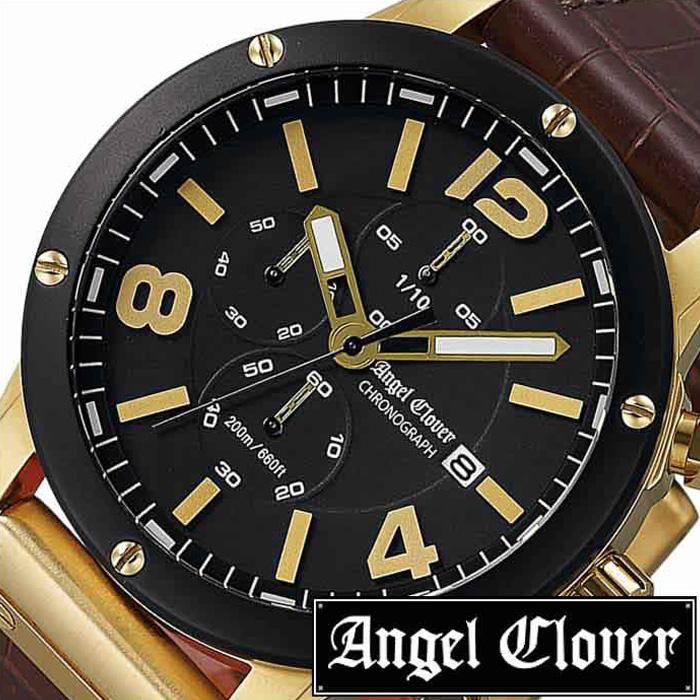 [当日出荷] エンジェルクローバー腕時計 AngelClover時計 Angel Clover 腕時計 エンジェル クローバー 時計 エクスベンチャー クロノグラフ EXVENTURE CHRONO メンズ ブラック EVC46YBK-BW [ クロノグラフ ミリタリー おしゃれ ブランド ] 誕生日