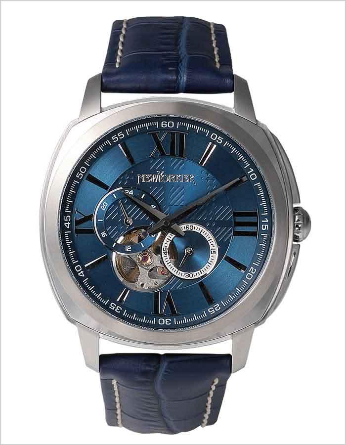 ニューヨーカー腕時計 NEWYORKER時計 NEW YORKER 腕時計 ニューヨーカー 時計 タイムパーソン Timeperson メンズ [オープンハート トラッドクラシック ルイ15世リューズ 自動巻き スケルトン テンプ おしゃれ おしゃれ ブランド ] 誕生日