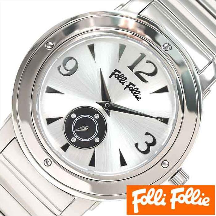 [あす楽]フォリフォリ腕時計 FolliFollie時計 FolliFollie 腕時計 フォリフォリ 時計 シルバー WF8T046BSSXX [アナログ ジュエリー ストーン ダイヤ クリスタル ジルコニア 銀 ギフト プレゼント ご褒美][おしゃれ 腕時計] 誕生日 冬ギフト