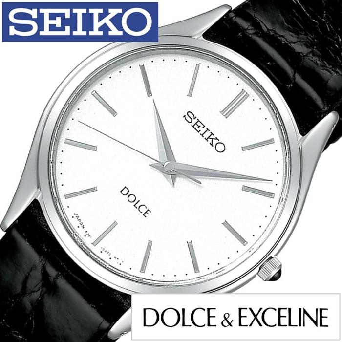 セイコー腕時計 SEIKO時計 SEIKO 腕時計 セイコー 時計 ドルチェ&エクセリーヌ DOLCE&EXCELINE メンズ ホワイト SACM171 [アナログ レザーベルト ペアウォッチ ブラック シルバー 黒 白 8J41][ギフト プレゼント ご褒美][おしゃれ 腕時計]