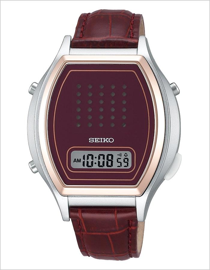 セイコー音声時計 SEIKO時計 SEIKO 音声時計 セイコー 時計 メンズ レッド SBJS010 [デジタル 液晶 音声時計 音声デジタルウォッチ ワインレッド A862][ギフト プレゼント ご褒美][おしゃれ 腕時計]