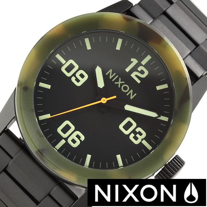 ニクソン 時計[NIXON 時計] ニクソン 腕時計[NIXON] ニクソン時計 プライベート PRIVATE SS メンズ ブラック A276-1428[ 正規品 ブランド 防水 夏 ペアウォッチ お揃い アナログ マットブラック カモフラージュ カーモ 迷彩 黒 3針 人気 サーフィン プレゼント ]