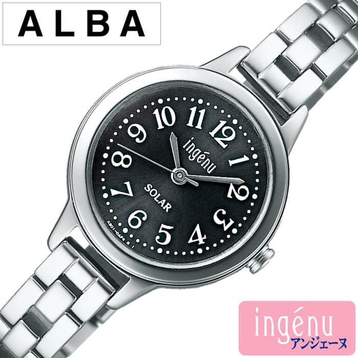 アルバ腕時計 ALBA時計 ALBA 腕時計 アルバ 時計 アンジェーヌ ingene レディース ブラック AHJD080 [アナログ ソーラー モデル SEIKO セイコー シルバー プレゼント ギフト お祝い][おしゃれ 腕時計]