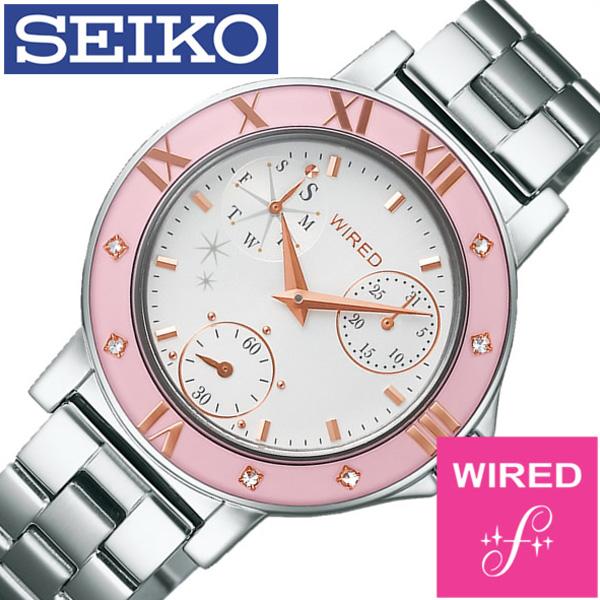 ワイアードエフ腕時計 WIREDf時計 WIRED f 腕時計 ワイアード エフ 時計 レディース ホワイト AGET402 [アナログ 防水 SEIKO シルバー ピンク VD76 ギフト プレゼント ご褒美 おしゃれ ] 誕生日