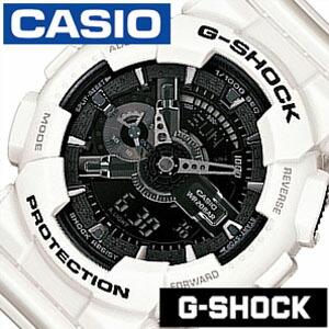 Gショック 白 Gshock ジ−ショック g-shock G-ショック 腕時計 時計 GA-110GW-7AJF メンズ ブラック[アナデジ デジタル 液晶 防水 ホワイト グレー モノクロ スポーツウォッチ トレーニング 登山 マラソン ランニング おしゃれ ブランド プレゼント ギフト ]
