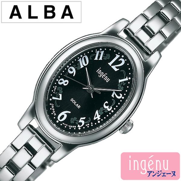 アルバ腕時計 ALBA時計 ALBA 腕時計 アルバ 時計 アンジェーヌ ingene レディース ブラック AHJD083 [メタル ベルト 正規品 ソーラー かわいい SEIKO シルバー ホワイト V117 ギフト プレゼント ご褒美][おしゃれ 腕時計]