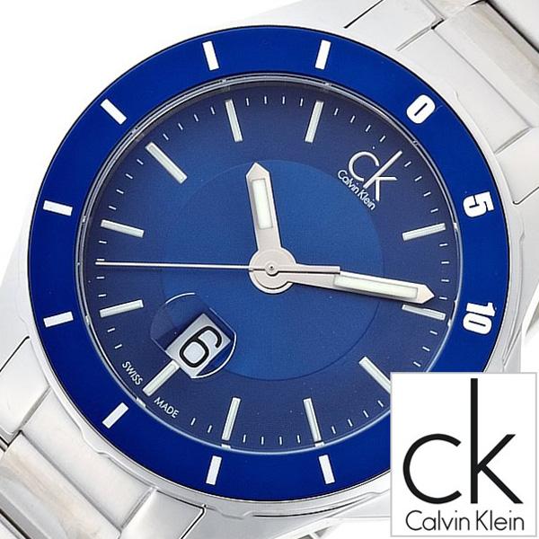 カルバンクライン腕時計 CalvinKlein時計 Calvin Klein 腕時計 カルバン クライン 時計 プレイ Play メンズ ブルー K2W21Z4N [アナログ 防水 シルバー ホワイト ck シーケー ビジネス スイス 製 ギフト プレゼント ご褒美][ おしゃれ ブランド ]