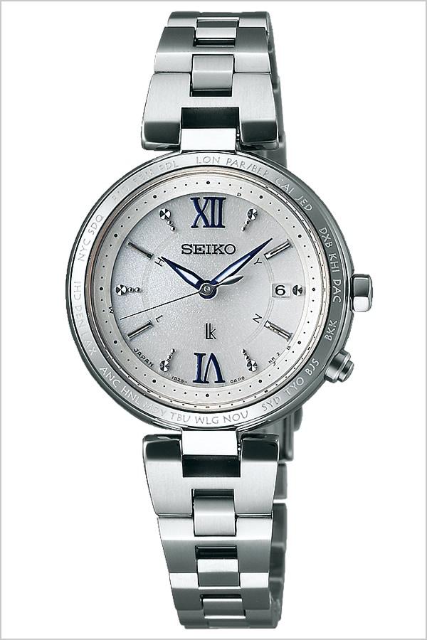 [5年保証対象]セイコー腕時計SEIKO時計SEIKO腕時計セイコー時計ルキアLUKIAレディース/シルバーSSQV013[メタルベルト/正規品/ソーラー電波修正/防水/オールシルバー/チタン/シンプル][送料無料][バレンタイン]