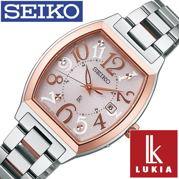 SEIKO時計 SEIKO 腕時計 セイコー 時計 ルキア LUKIA レディース ピンク SSVW048 [メタル ベルト 防水 ソーラー電波 シルバー ピンクゴールド 1B22 かわいい 正規品][ギフト プレゼント ご褒美][おしゃれ 腕時計]