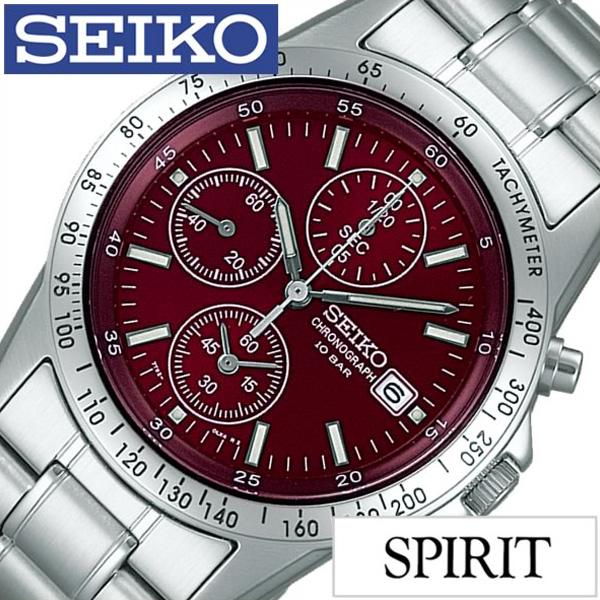【SALE】(30%OFF) 割引 セール 安い セイコー腕時計 SEIKO時計 SEIKO 腕時計 セイコー 時計 スピリット SPIRIT メンズ レッド SBTQ045 [メタル ベルト 正規品 クロノグラフ 限定 防水 シルバー シンプル ギフト プレゼント おしゃれ 腕時計] 誕生日