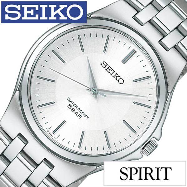 セイコー腕時計 SEIKO時計 SEIKO 腕時計 セイコー 時計 スピリット SPIRIT メンズ ホワイト SCXP021 [メタル ベルト 正規品 限定 シルバー シンプル][ギフト プレゼント ご褒美][おしゃれ 腕時計]