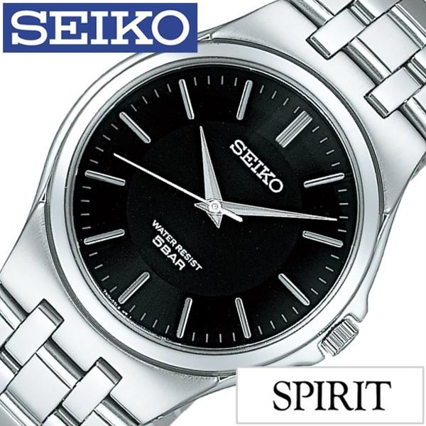 セイコー腕時計 SEIKO時計 SEIKO 腕時計 セイコー 時計 スピリット SPIRIT メンズ ブラック SCXP023 [メタル ベルト 正規品 限定 シルバー シンプル ギフト プレゼント ご褒美][おしゃれ 腕時計]