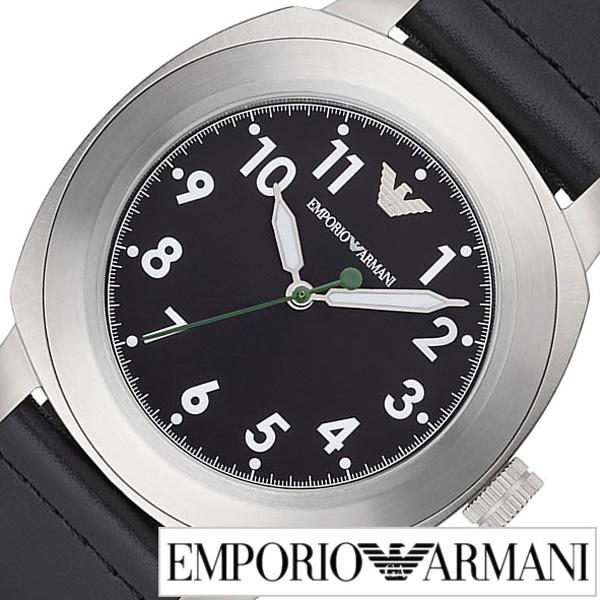 [あす楽]エンポリオアルマーニ 腕時計[ARMANI 時計]エンポリオ アルマーニ 時計[EMPORIO ARMANI 腕時計]アルマーニ時計 アルマーニ腕時計 スポルティーボ SPORTIVO メンズ ブラック AR6057 [エンポリ EA 新作 人気 防水 革ベルト レザー シルバー] 誕生日