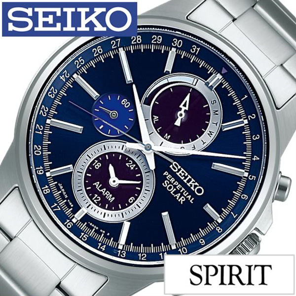 セイコー腕時計 SEIKO時計 SEIKO 腕時計 セイコー 時計 スピリット スマート SPIRIT SMART メンズ ブルー SBPJ003 [メタル ベルト ソーラー クロノグラフ 正規品 防水 シルバー ギフト プレゼント ご褒美][ おしゃれ ブランド ]