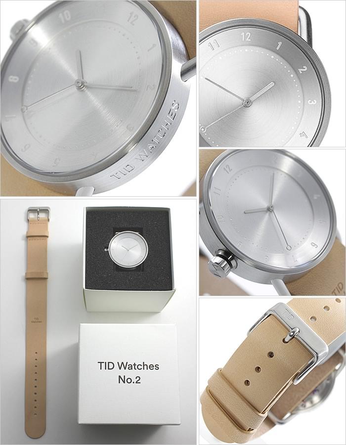 [ティッドウォッチズ]ティッドウォッチ 腕時計[TIDWatches 時計]ティッド ウォッチ 時計[TID Watches 腕時計] TIDNo. 2 レディース シルバー TID02-SV36-N [革 ベルト おしゃれ 正規品 替え 北欧 アナログ ベージュ ブラウン シルバー 通販][プレゼント ギフト][新生活]