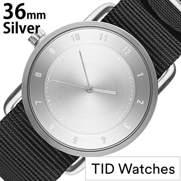 [ティッドウォッチズ]ティッドウォッチ 腕時計[TIDWatches 時計]ティッド ウォッチ 時計[TID Watches 腕時計] TIDNo. 2 レディース メンズ TID02-SV36-NBK [NATO ベルト おしゃれ 正規品 替え 北欧 アナログ ナトー ブラック シルバー 通販][社会人]