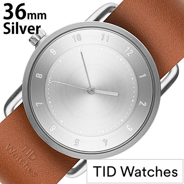 [ティッドウォッチズ]ティッドウォッチ 腕時計[TIDWatches 時計]ティッド ウォッチ 時計[TID Watches 腕時計] TIDNo. 2 レディース シルバー TID02-SV36-T [革 ベルト おしゃれ 正規品 替え 北欧 アナログ ブラウン シルバー][プレゼント ギフト][社会人]